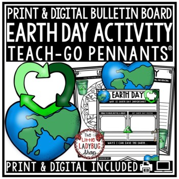 Earth Day Writing Poster Pennants & Earth Day Activity