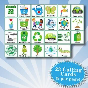 EARTH DAY 3x3 Bingo