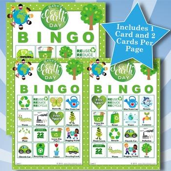 EARTH DAY 4x4 Bingo