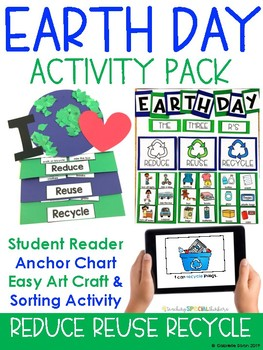 EARTH DAY ACTIVITIES {Audio Book, Craftivity & Take home A