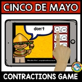 CINCO DE MAYO ACTIVITIES GRADE 1 (CONTRACTIONS 2ND GRADE) GRAMMAR BOOM CARDS