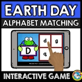 EARTH DAY ACTIVITY KINDERGARTEN (BOOM CARDS ELA) APRIL LITERACY ALPHABET LETTERS