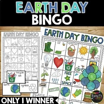 EARTH DAY BINGO Game {25 Different Bingo Cards}