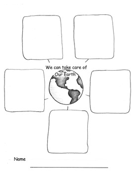 EARTH DAY Book and Graphic Organizer with Common Core Lesson Plans  2 Days