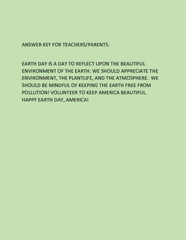 EARTH DAY CRYPTOGRAM