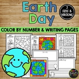 Earth Day Writing Paper and Coloring Sheets, Recycle, Reduce, Reuse