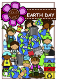 EARTH DAY Digital Clipart (color and black&white)
