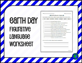 EARTH DAY Figurative Language Worksheet