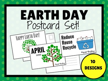 EARTH DAY Fill In POSTCARDS (BW & COLOR)