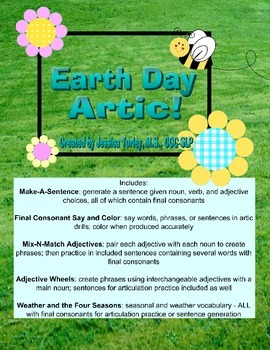 EARTH DAY - Final Consonant Deletion Worksheets and Activities