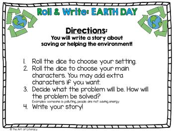 EARTH DAY Freebie: Roll & Write A Story