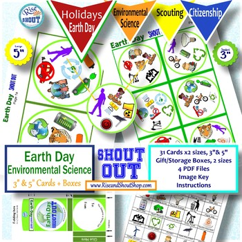 EARTH DAY GAME Environmental Science SHOUT OUT Game; Spot the Match;