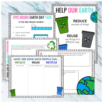 EARTH DAY GET EPIC/ EPIC BOOKS/EPIC! TASK