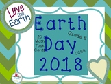 2018 EARTH DAY GRADE 6 MATH TASK CARDS