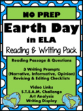 EARTH DAY IN ELA {Reading, Writing, STEAM}-Great Test Prep!