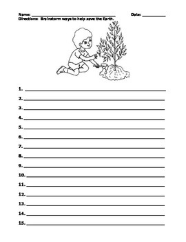 EARTH DAY! Informational paragraph, coloring activity, worksheet (GRADES 3 - 6)