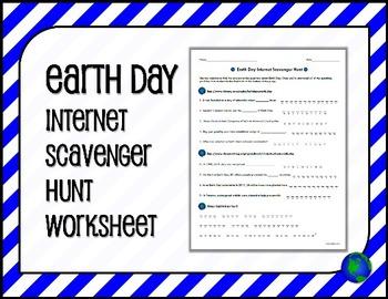 EARTH DAY Internet Scavenger Hunt