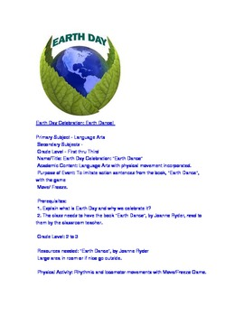 EARTH DAY - LESSON PLAN Gr. 1-3