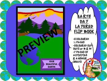 EARTH DAY - Layered, Flip Book