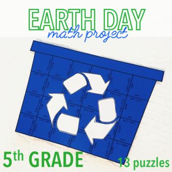 EARTH DAY MATH ACTIVITIES - FIFTH GRADE RECYCLING BIN