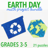 EARTH DAY MATH ACTIVITIES - THIRD GRADE - FIFTH GRADE BUNDLE