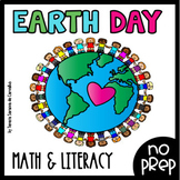 EARTH DAY : MATH and LITERACY NO_PREP