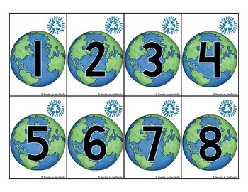 EARTH DAY Math Center: Count the Room 1 - 10
