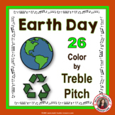 EARTH DAY Music Activities: Color by Treble Pitch Worksheets