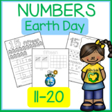 EARTH DAY Numbers 11-20 Number and Number Word Recognition and Practice
