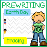 EARTH DAY Pre-Writing Shapes and Lines Tracing Practice