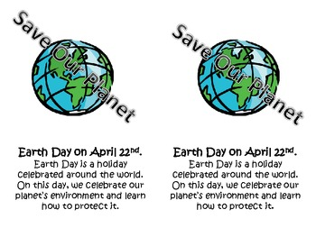 EARTH DAY Read & Do Mini Book