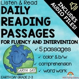 EARTH DAY Reading Passages with Audio for Fluency and Intervention