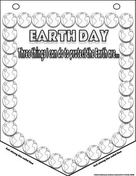 EARTH DAY Reflection Banner with Writing Prompts