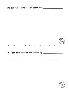 EARTH DAY Response Book and Graphic Organizer Kindergarten 1st ELA C. Core