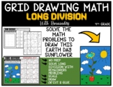 EARTH DAY SUNFLOWER Grid Drawing Math Puzzle LONG DIVISION WITH REMAINDERS