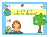 EARTH DAY Sentence Starters! NO PREP Printables