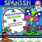 EARTH DAY Write and Count the Room in SPANISH