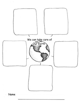 EARTH DAY Writing GRAPHIC ORGANIZER Read Write about Earth Day Kinder - fourth