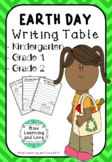 EARTH DAY Writing Center Table PRINTABLES - Kindergarten G