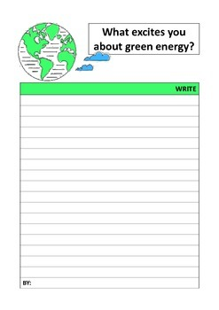 EARTH DAY writing prompts ( ecology )