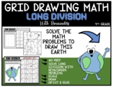 EARTH Grid Drawing Math Puzzle LONG DIVISION WITH REMAINDERS