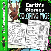 Earth's Biomes Science Color By Number or Quiz