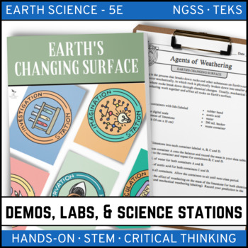 EARTH'S CHANGING SURFACE - Demo, Lab and Science Station {Earth Science}