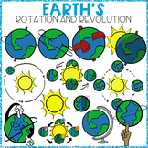 EARTH'S ROTATION AND REVOLUTION CLIP ART