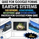 EARTH'S SYSTEMS SPHERES:  PHOTOS FOR GOOGLE FORM QUIZ