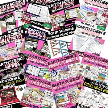 EARTH SCIENCE MEGA BUNDLE BEST DEAL (Earth Science BUNDLE, Curriculum)