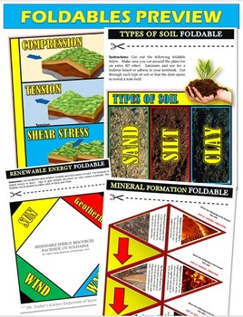 EARTH SCIENCE: POP-UP CARDS AND FOLDABLES BUNDLE