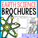 EARTH SCIENCE Research Brochure Template Projects BUNDLE