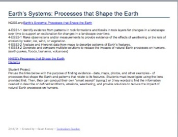 EARTH SYSTEMS: PROCESSES THAT SHAPE THE EARTH: Grades 3-8
