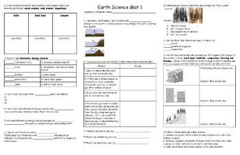 EARTH Science Mat 1